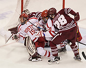 Nick Roberto (BU - 15), Jordan Greenway (BU - 18), Jake McLaughlin (UMass - 28) - The Boston University Terriers defeated the University of Massachusetts Minutemen 3-1 on Friday, February 3, 2017, at Agganis Arena in Boston, Massachusetts.The Boston University Terriers defeated the visiting University of Massachusetts Amherst Minutemen 3-1 on Friday, February 3, 2017, at Agganis Arena in Boston, MA.