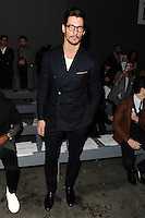 David Gandy at front row for the TOPMAN Designs show as part of London Collections Men AW14, London.  06/01/2014 Picture by: Steve Vas / Featureflash
