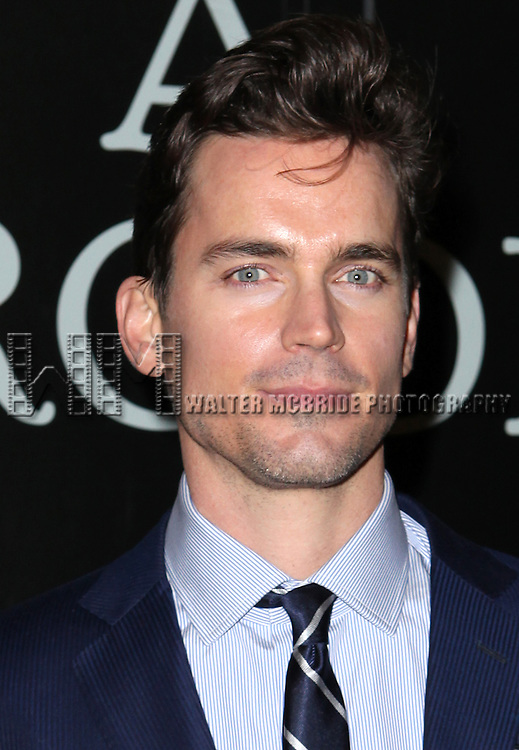 Matt Bomer attending the Broadway Opening Night Performance of 'Cat On A Hot Tin Roof' at the Richard Rodgers Theatre in New York City on 1/17/2013