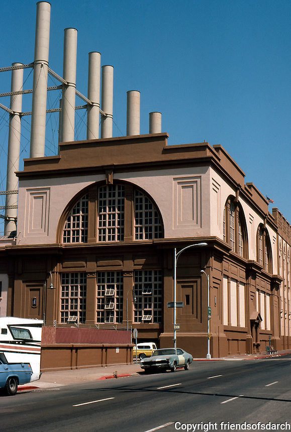 San Diego: SDG&E Power Sub-station, 707 Broadway. 1929, William T. Johnson.  (Photo '80)