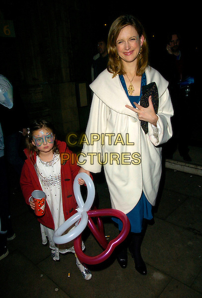 "KATIE DERHAM & DAUGHTER.At The Press Night for Cirque Du Soleil ""Alegria"" at the Royal Albert Hall, London, England, January 5th 2007..full length mum mother family face painted ballons.CAP/CAN.©Can Nguyen/Capital Pictures"