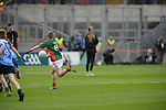 Daragh O'Callaghan from Kilcummin was the only Kerryman wearing a Mayo jersey during the interval game.<br /> <br /> Kerry win the 2016 All-Ireland Minor Football Championship.<br /> Photo Don MacMonagle