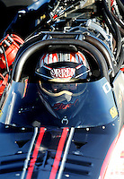 Sept. 5, 2010; Clermont, IN, USA; NHRA top fuel dragster driver Steve Torrence during qualifying for the U.S. Nationals at O'Reilly Raceway Park at Indianapolis. Mandatory Credit: Mark J. Rebilas-
