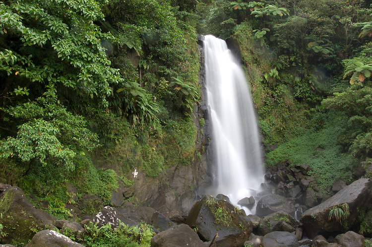 Trafalgar falls, one of many natural wonders in Dominica