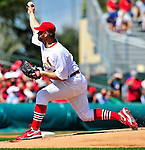 10 March 2010: St. Louis Cardinals' pitcher Brad Penny on the mound during a Spring Training game against the Washington Nationals at Roger Dean Stadium in Jupiter, Florida. The Cardinals defeated the Nationals 6-4 in Grapefruit League action. Mandatory Credit: Ed Wolfstein Photo