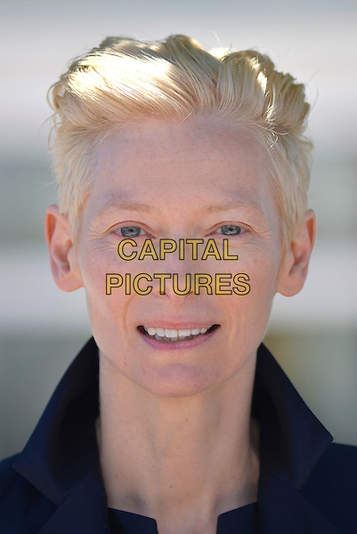 Tilda Swinton.'Only Lovers Left Alive' photocall at the 66th Cannes Film Festival, France 25th May 2013.headshot portrait black  .CAP/PL.©Phil Loftus/Capital Pictures.