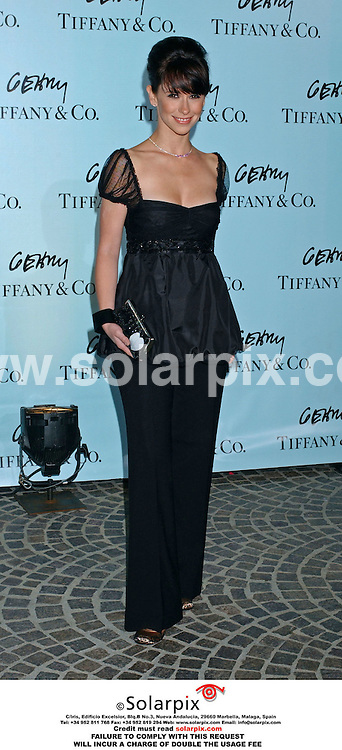 ALL ROUND PICTURES FROM SOLARPIX.COM.MUST CREDIT SOLARPIX.COM OR DOUBLE FEE INCURRED.Frank Gehry's Jewellery  showing at Tiffany and co.In Beverley hills in Los Angeles in the united states of America with a star studded guest apperance beginning with Angelica Huston and younger stars such as Christina Ricci..This pic:Jennifer love Hewitt ..DATE:27.03.06-JOB REF:2213-GLS