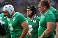 Sean O'Brien of Ireland looks on during a break in play. QBE International match between England and Ireland on September 5, 2015 at Twickenham Stadium in London, England. Photo by: Patrick Khachfe / Onside Images
