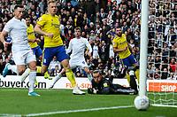 Leeds United's Patrick Bamford goes close<br /> <br /> Photographer Alex Dodd/CameraSport<br /> <br /> The EFL Sky Bet Championship - Leeds United v Birmingham City - Saturday 19th October 2019 - Elland Road - Leeds<br /> <br /> World Copyright © 2019 CameraSport. All rights reserved. 43 Linden Ave. Countesthorpe. Leicester. England. LE8 5PG - Tel: +44 (0) 116 277 4147 - admin@camerasport.com - www.camerasport.com