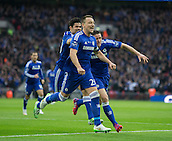 01.03.2015.  London, England. Capital One Cup Final. Chelsea versus Tottenham Hotspur. Chelsea captain John Terry celebrates his opening goal.