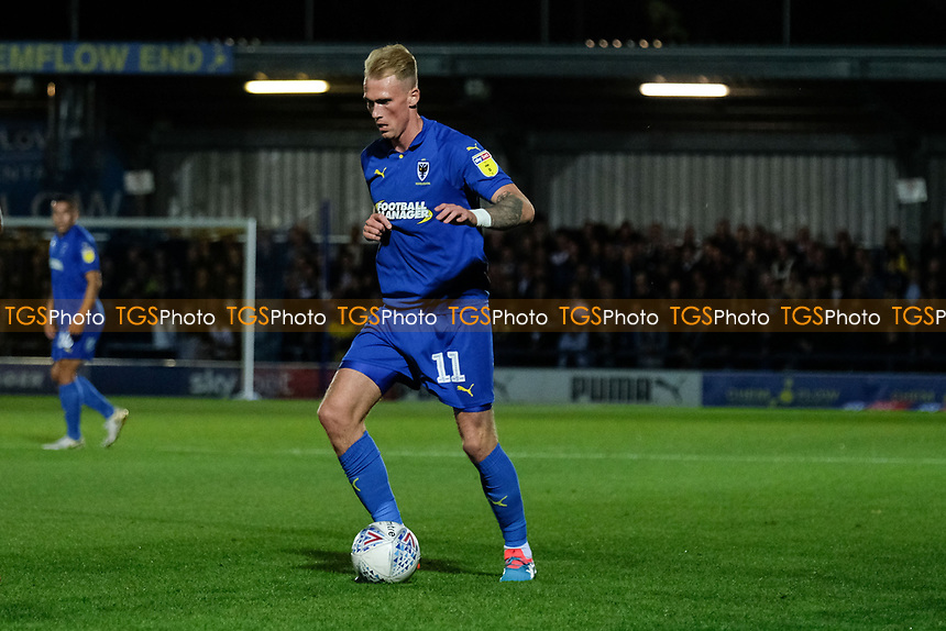 Mitchell Pinnock of AFC Wimbledon during AFC Wimbledon vs Bradford City, Sky Bet EFL League 1 Football at the Cherry Red Records Stadium on 2nd October 2018