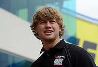 Apr. 15, 2012; Concord, NC, USA: NHRA funny car driver Blake Alexander during the Four Wide Nationals at zMax Dragway. Mandatory Credit: Mark J. Rebilas-