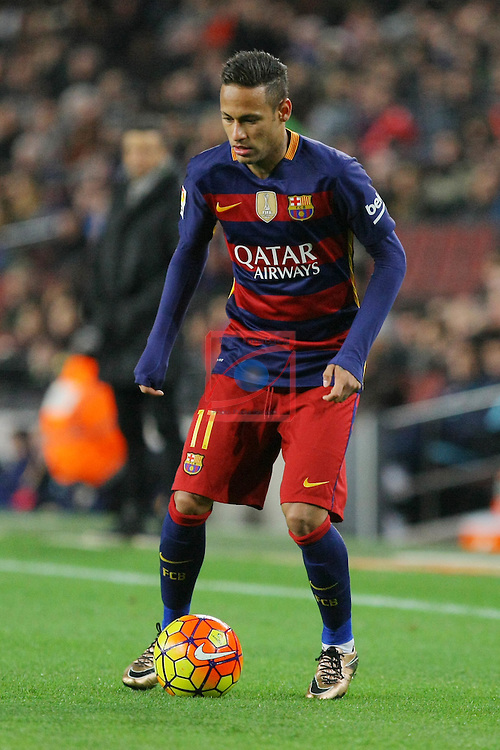 League BBVA 2015/2016 -Game: 20.<br /> FC Barcelona vs Athletic Club: 6-0.<br /> Neymar Jr.