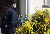 Roma, 7 Marzo 2015<br /> Quirinale.<br /> Giornata internazionale dela donna, <br /> celebrazione dedicata al tema &quot;Donne per la Terra&quot;.<br /> Nalla foto la guardi d'onore composta da personale femminile del corpo forestale dello Stato.