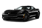 Stock pictures of low aggressive front three quarter view of a 2019 Chevrolet Corvette Stingray 3LT 2 Door Coupe