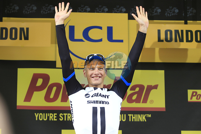 Marcel Kittel (GER) Team Giant-Shimano wins Stage 3 of the 2014 Tour de France running 155km from Cambridge to London. 7th July 2014.<br /> Picture: Eoin Clarke www.newsfile.ie