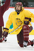 Justin Faulk (Duluth - 25) - The University of Minnesota-Duluth Bulldogs practiced on Friday morning, April 8, 2011, during the 2011 Frozen Four at the Xcel Energy Center in St. Paul, Minnesota.