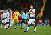 Tottenham Hotspur's Harry Kane applauds the fans at the end of the game<br /> <br /> Photographer Rob Newell/CameraSport<br /> <br /> UEFA Champions League Group B - Tottenham Hotspur v Internazionale - Wednesday 28th November 2018 - Wembley Stadium - London<br />  <br /> World Copyright &copy; 2018 CameraSport. All rights reserved. 43 Linden Ave. Countesthorpe. Leicester. England. LE8 5PG - Tel: +44 (0) 116 277 4147 - admin@camerasport.com - www.camerasport.com