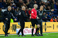 Preston North End manager Alex Neil remonstrates with fourth official Andy Woolmer<br /> <br /> Photographer Alex Dodd/CameraSport<br /> <br /> The EFL Sky Bet Championship - Preston North End v Leeds United - Tuesday 22nd October 2019 - Deepdale Stadium - Preston<br /> <br /> World Copyright © 2019 CameraSport. All rights reserved. 43 Linden Ave. Countesthorpe. Leicester. England. LE8 5PG - Tel: +44 (0) 116 277 4147 - admin@camerasport.com - www.camerasport.com