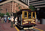 Cable car at Market St. in San Francisco