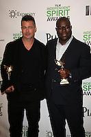 Brad Pitt, Steve McQueen<br /> at the 2014 Film Independent Spirit Awards Press Room, Santa Monica Beach, Santa Monica, CA 03-01-14<br /> David Edwards/Dailyceleb.com 818-249-4998