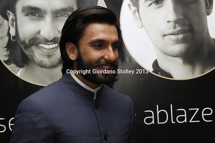 DURBAN - 5 September 2013 - Bollywood star Ranveer Singh faces up to the media in Durban, South Africa, where he is attending the South Africa India Film and Television Awards. Picture: Giordano Stolley