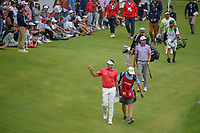 Ian Poulter (GBR) gives the roaring crowd a thumbs up as he approaches the green on 17 during round 4 of the World Golf Championships, Mexico, Club De Golf Chapultepec, Mexico City, Mexico. 2/24/2019.<br /> Picture: Golffile | Ken Murray<br /> <br /> <br /> All photo usage must carry mandatory copyright credit (© Golffile | Ken Murray)