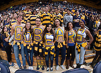 "California ""GoBears"" fans are pictured before the game against Stanford at Haas Pavilion in Berkeley, California on February 5th, 2014.  Stanford defeated California, 80-69."