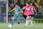 (L-R) <br /> Yuka Momiki (Beleza), <br /> Miho Kamogawa (Jef Ladies), <br /> SEPTEMBER 3, 2016 - Football / Soccer : <br /> Plenus Nadeshiko League Cup 2016 Division 1 Final match <br /> between NTV Beleza 4-0 Jef Chiba Ladies <br /> at Ajinomoto Field Nishigaoka in Tokyo, Japan. <br /> (Photo by AFLO SPORT)