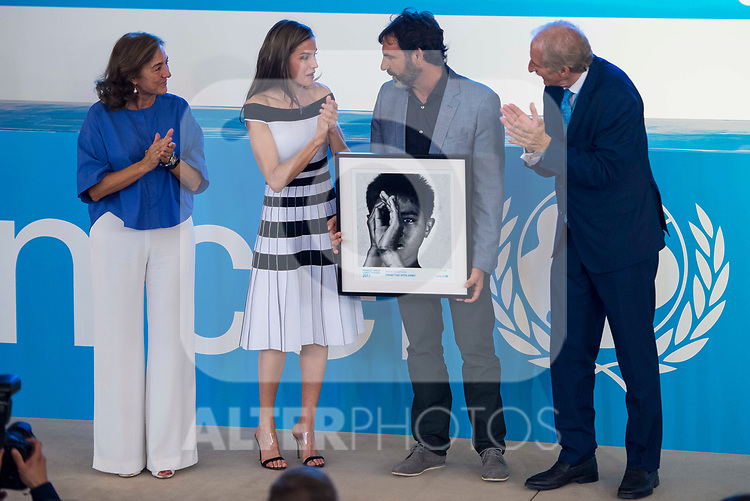 Queen Letizia and Oscar Camps of 'Proactiva Open Arms' attends to UNICEF Awards 2017 in Madrid, June 13, 2017. Spain.<br /> (ALTERPHOTOS/BorjaB.Hojas)