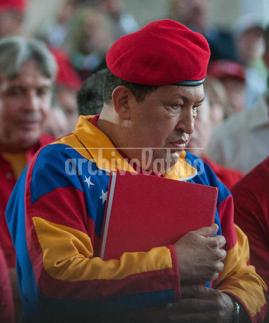 Venezuela: Caracas,11/06/12 .The President of Venezuela, Hugo Chavez entered his candidacy for reelection to the upcoming elections on October 7, the National Electoral Council (CNE).Carlos Hernandez/Archivolatino