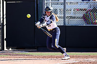 DURHAM, NC - FEBRUARY 29: Emma Clark #15 of the University of Notre Dame hits the ball during a game between Notre Dame and Duke at Duke Softball Stadium on February 29, 2020 in Durham, North Carolina.