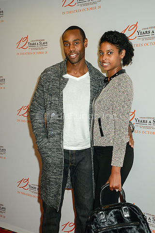 NEW YORK, NY - OCTOBER 16: Actor Valence Thomas and wife Monique Thomas attends the '12 Years A Slave' screening at AMC Empire 25 theater on October 16, 2013 in New York City Photo Credit:RTNThompson / MediaPunch Inc.