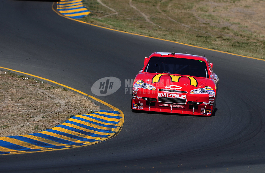 Jun. 19, 2010; Sonoma, CA, USA; NASCAR Sprint Cup Series driver Jamie McMurray during practice for the SaveMart 350 at Infineon Raceway. Mandatory Credit: Mark J. Rebilas-