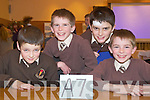 Pupils from Lissivigeen N.S., Killarney at the Credit Union Quiz on Sunday, from left: Daniel Keane, Harry Knoblauch, Lorcan Martin and James Knoblauch.