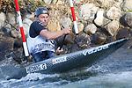 28th September 2019; Canal Olimpic del Segre, La Seu d'Urgell, Catalonia, Spain; ICF Canoe Slalom, World Championships, MC1 Men's Canoe canoe. Picture show Grzegorz Hedwig (POL) in action
