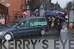 FINAL: Christy Hennessy, Entertainer, goes on his final journey on Thursday 28th December 2007..The Removal Mass of the late Christy Hennessy from Saint Johns Tralee on Thursday 27th December,    Copyright Kerry's Eye 2008