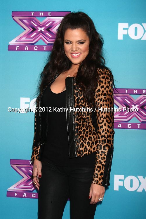 .LOS ANGELES - DEC 17:  Khloe Kardashian Odom at the 'X Factor' Season Finale Press Conference at CBS Television City on December 17, 2012 in Los Angeles, CA