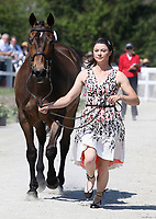 LEXINGTON, KY - April 26, 2017. #40 Irish Rhythm and Rachel McDonough from Canada at the Rolex Three Day Event First Horse Inspection at the Kentucky Horse Park.  Lexington, Kentucky. (Photo by Candice Chavez/Eclipse Sportswire/Getty Images)