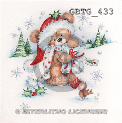 Theresa, CHRISTMAS ANIMALS, paintings, GBTG433,#XA# stickers Weihnachten, Navidad, illustrations, pinturas