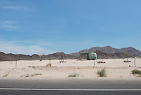Drive-by shooting road from San Felipe to Mexicali.  Baja California Norte. Meico