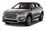 2019 Hyundai Tucson Shine 5 Door SUV angular front stock photos of front three quarter view
