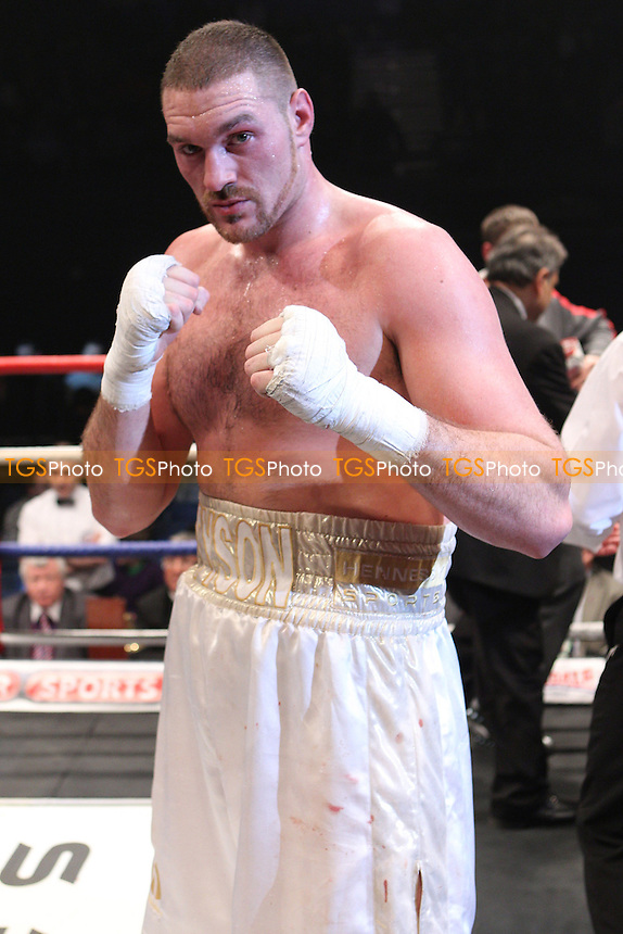 Tyson Fury defeats Marcelo Nascimento in a heavyweight contest at Wembley Arena promoted by Hennessy Sports - 19/02/11 - MANDATORY CREDIT: Chris Royle/TGSPHOTO - Self billing applies where appropriate - 0845 094 6026 - contact@tgsphoto.co.uk - NO UNPAID USE..