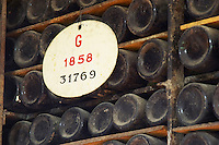 old bottles in the cellar 1858 ferreira port lodge vila nova de gaia porto portugal