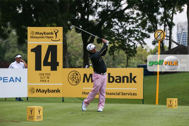 Prayad Marksaeng (THA) during Round Three of the 2014 Maybank Malaysian Open at the Kuala Lumpur Golf & Country Club, Kuala Lumpur, Malaysia. Picture:  David Lloyd / www.golffile.ie