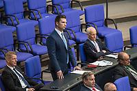 Sitzung des Deutschen Bundestag am Donnerstag den 19. April 2018.<br /> Im Bild stehend: Jan  Ralf Nolte, Abgeordneter der rechtsnationalistischen &quot;Alternative fuer Deutschland&quot;, AfD, nimmt Stellung zu den Vorhaltungen aus dem Plenum, er wuerde einen Rechtsextremisten als Angestellten beschaeftigten, der Aufgrund seiner rechtsextremen Umtriebe keine Sicherheitsfreigabe des Deutschen Bundestag und somit auch keine Zugangsberechtigung zum Bundestag bekommen hat.<br /> 19.1.2018, Berlin<br /> Copyright: Christian-Ditsch.de<br /> [Inhaltsveraendernde Manipulation des Fotos nur nach ausdruecklicher Genehmigung des Fotografen. Vereinbarungen ueber Abtretung von Persoenlichkeitsrechten/Model Release der abgebildeten Person/Personen liegen nicht vor. NO MODEL RELEASE! Nur fuer Redaktionelle Zwecke. Don't publish without copyright Christian-Ditsch.de, Veroeffentlichung nur mit Fotografennennung, sowie gegen Honorar, MwSt. und Beleg. Konto: I N G - D i B a, IBAN DE58500105175400192269, BIC INGDDEFFXXX, Kontakt: post@christian-ditsch.de<br /> Bei der Bearbeitung der Dateiinformationen darf die Urheberkennzeichnung in den EXIF- und  IPTC-Daten nicht entfernt werden, diese sind in digitalen Medien nach &sect;95c UrhG rechtlich geschuetzt. Der Urhebervermerk wird gemaess &sect;13 UrhG verlangt.]