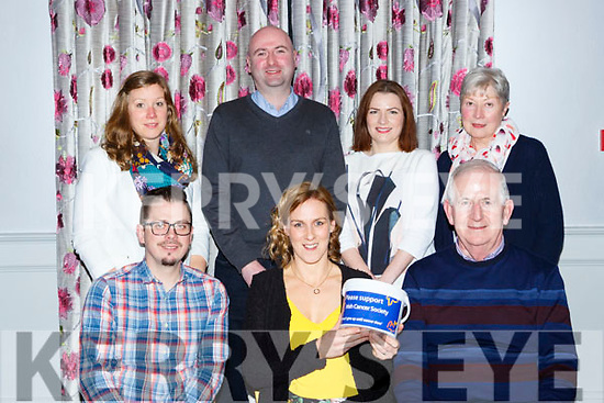 Caterina Murphy who is running the London Marathon in aid of the irish Cancer society held a table quiz in the Dromhall Hotel on Thursday night fron row l-r: Pearse Beasley, Caterina Murphy  Cathal Walshe. Back row: Carina Griessnor-Beasley, Tom Murphy, Sheena and Marie Murphy