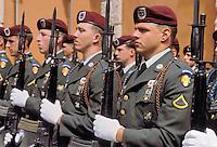 - USA parachutists in Verona for a NATO military ceremony ....- paracadutisti USA a Verona per una cerimonia militare della NATO