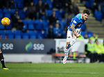 St Johnstone v Hamilton Accies&hellip;10.11.18&hellip;   McDiarmid Park    SPFL<br />Matty Kennedy&rsquo;s thunderous shot hits the cross bar<br />Picture by Graeme Hart. <br />Copyright Perthshire Picture Agency<br />Tel: 01738 623350  Mobile: 07990 594431