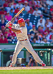 7 September 2014: Philadelphia Phillies infielder Maikel Franco in action against the Washington Nationals at Nationals Park in Washington, DC. The Phillies fell to the Nationals 3-2 in their final meeting of the season. Mandatory Credit: Ed Wolfstein Photo *** RAW (NEF) Image File Available ***